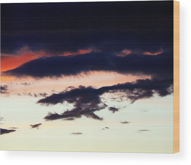 Clouds Wood Print featuring the photograph Strange Clouds by Jose Carlos Patricio