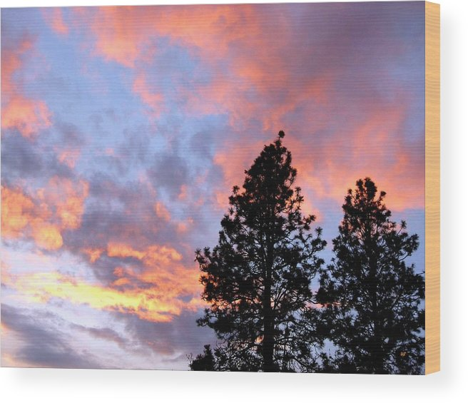 Sunset Wood Print featuring the photograph Stunning Spring Sky by Will Borden