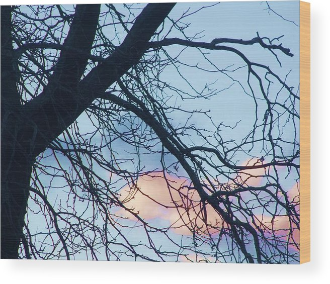 Clouds Wood Print featuring the photograph Sunset Cloud Color 2 by Dave Dresser