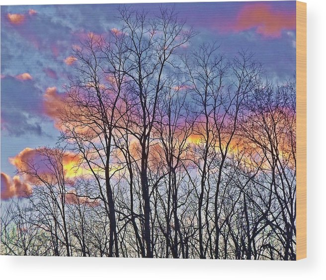 Cloud Wood Print featuring the photograph Sunset Cloud Colors 11 by Dave Dresser