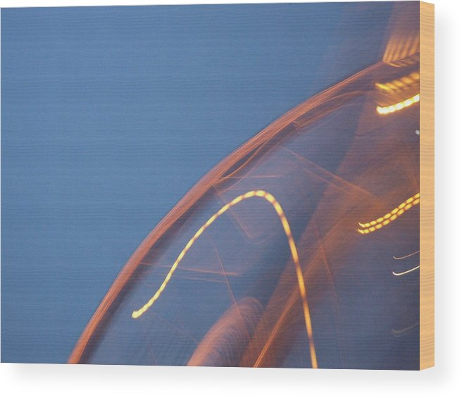 Travel Wood Print featuring the photograph Thai Bridge Abstract by Lyle Barker