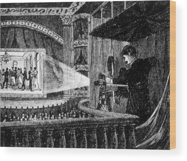 The 1896 Vitascope Movie Projector Wood Print