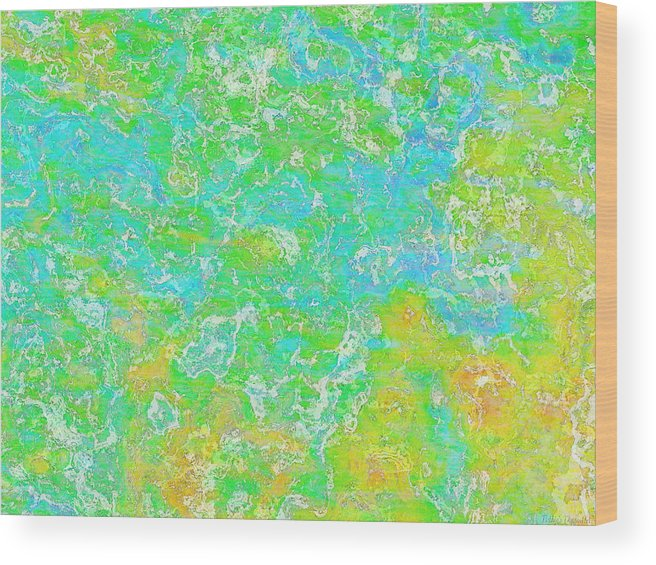 Abstract Wood Print featuring the digital art Thick Paint II by Debbie Portwood