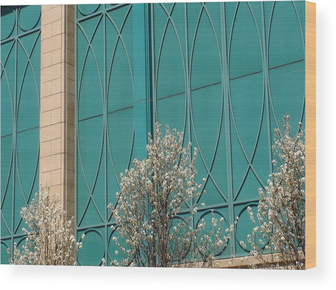 Building Wood Print featuring the photograph This Building's Got The Blues by Sheila Rodgers