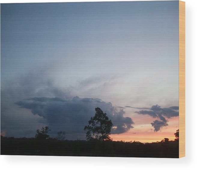 Storm Wood Print featuring the digital art Thunderhead by Wide Awake Arts