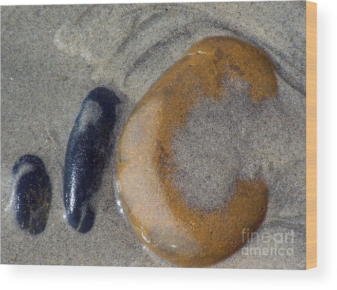 Ocean Wood Print featuring the photograph Trinity Alignment by Brian Commerford