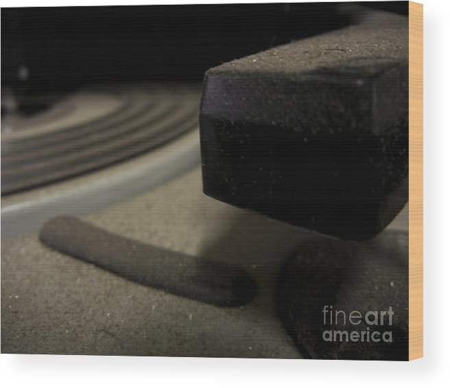 Record Player Wood Print featuring the photograph Turnstyle by John Thomas Foye
