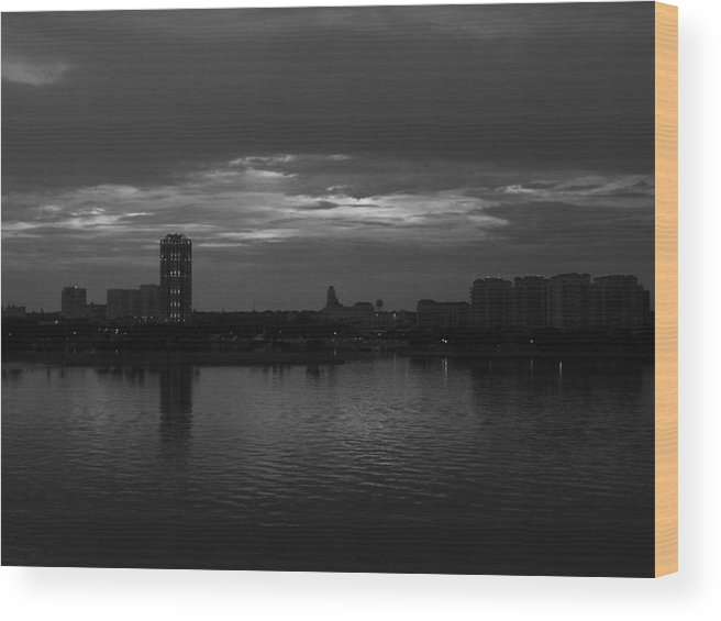 Pier Wood Print featuring the photograph View From The Pier by April Wietrecki Green