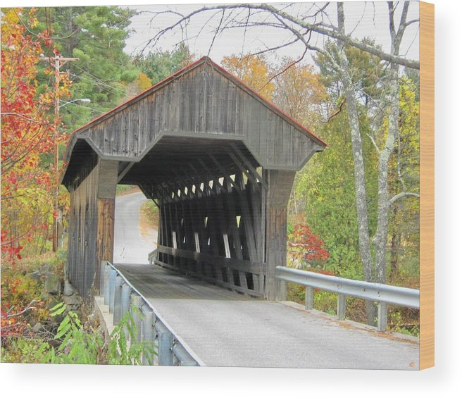 Nh Wood Print featuring the photograph Waterloo Covered Bridge by Wayne Toutaint