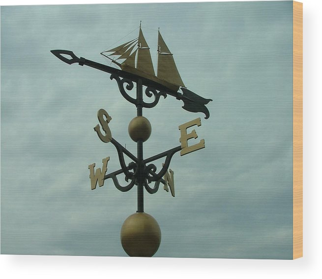 Landscape Wood Print featuring the photograph World's Largest Weathervane by Dennis Pintoski