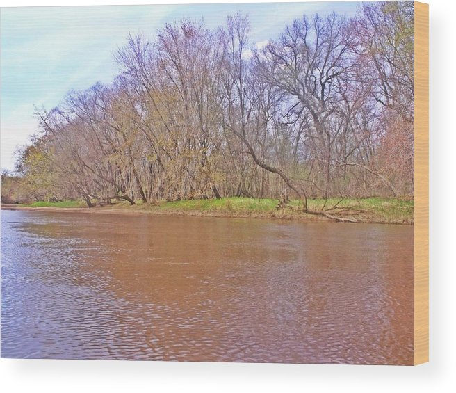 River Wood Print featuring the photograph Yellow River 11 by Dave Dresser