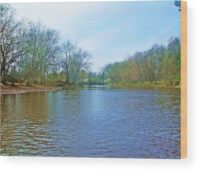 River Wood Print featuring the photograph Yellow River 17 by Dave Dresser