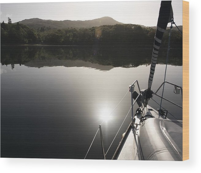 Boat Wood Print featuring the photograph Zen Morning On A Sailing Boat by Pat Garret
