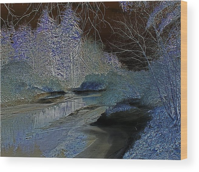 Digital Wood Print featuring the photograph Blue Ice by Peter Gray