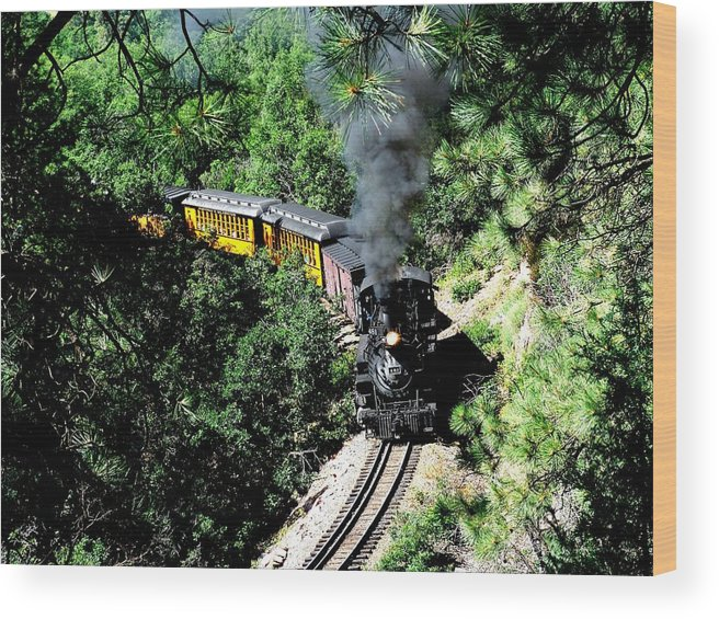 Train Wood Print featuring the photograph Nostalgic Moments by Carol Milisen