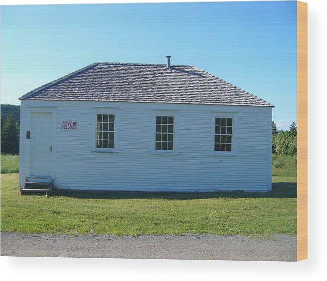 Landscape Wood Print featuring the photograph School House by Sharon Stacey