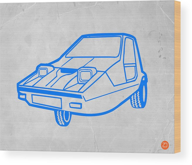 Auto Wood Print featuring the digital art Funny Car by Naxart Studio