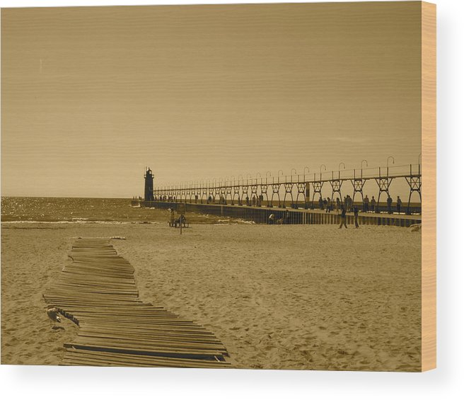 Lighthouse Wood Print featuring the photograph Untitled by Moby Kane