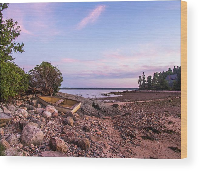 Sunset Wood Print featuring the photograph Sunset In New England by Trace Kittrell
