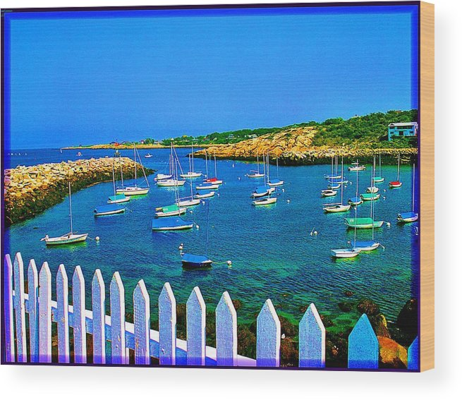 Seascape Wood Print featuring the photograph 2381 Rock Harbor by Ed Immar