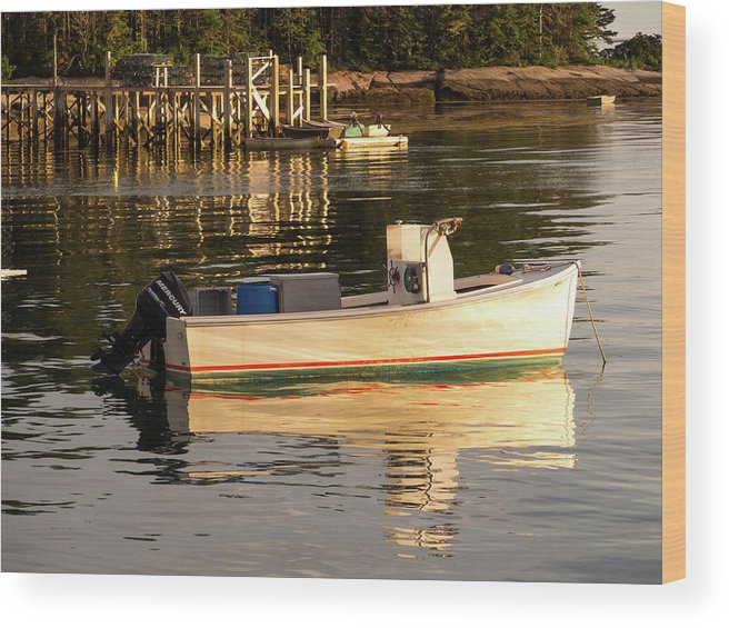 Jonesport Wood Print featuring the photograph Down East Maine by Trace Kittrell