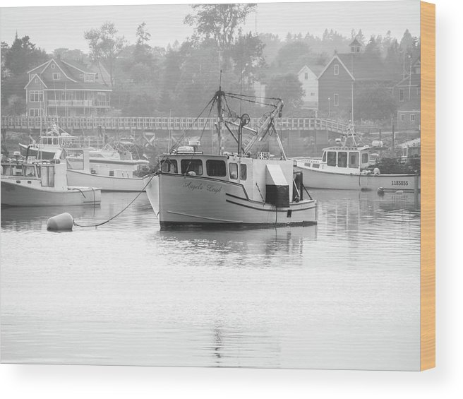 Olympus Wood Print featuring the photograph Down East Maine by Trace Kittrell