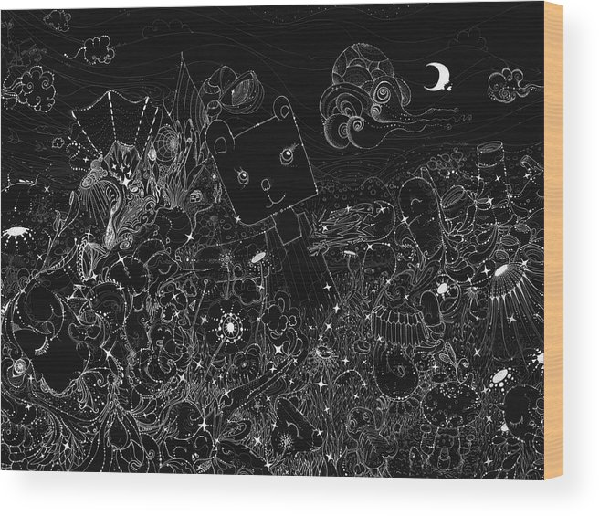Other Wood Print featuring the digital art Other by Mery Moon