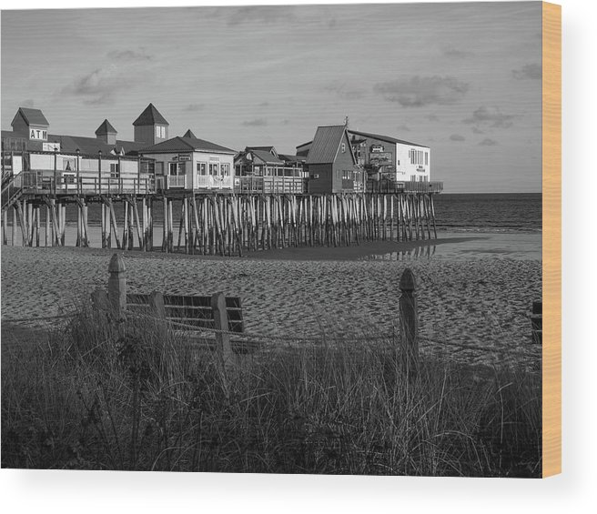 Old Orchard Beach Wood Print featuring the photograph Old Orchard Beach Maine by Trace Kittrell