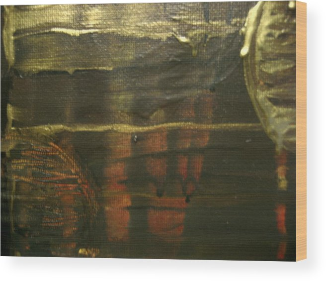 Abstract Wood Print featuring the painting None by Jessica De la Torre