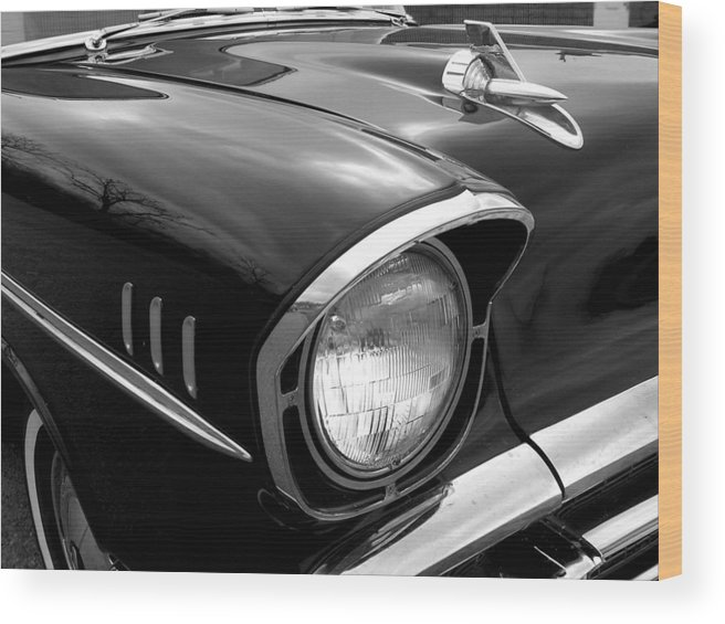 Car Wood Print featuring the photograph 57 Chevy 2 by Audrey Venute