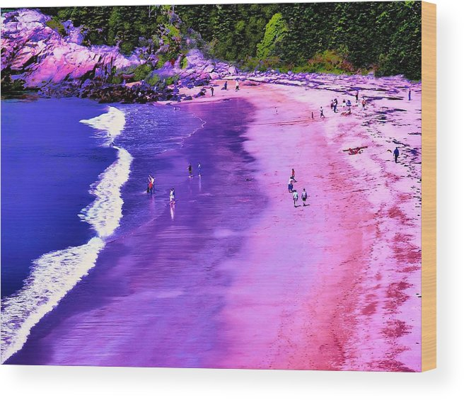 Seascape Wood Print featuring the photograph 74f Bright Beach by Ed Immar