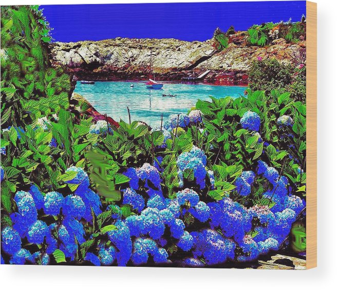 Landscape Wood Print featuring the photograph 75h Ocean Flowers by Ed Immar