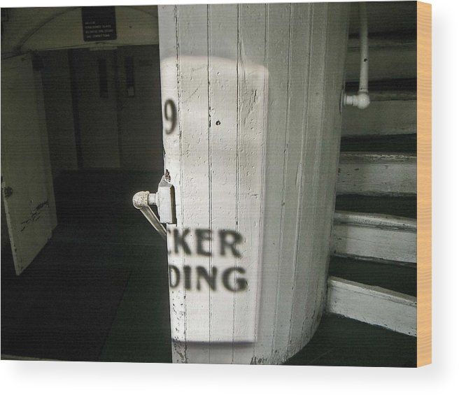 99 Entrance Wood Print featuring the photograph 99 The Picker Building by Nancy Ferrier