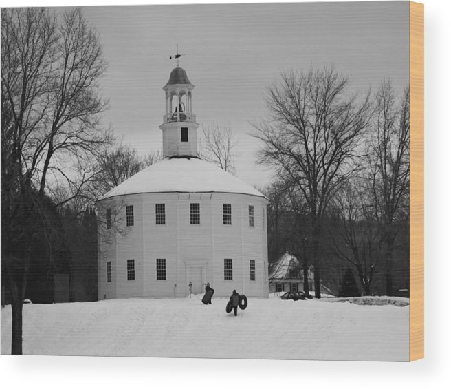 New England Wood Print featuring the photograph A Day On The Hill by Susan Russo