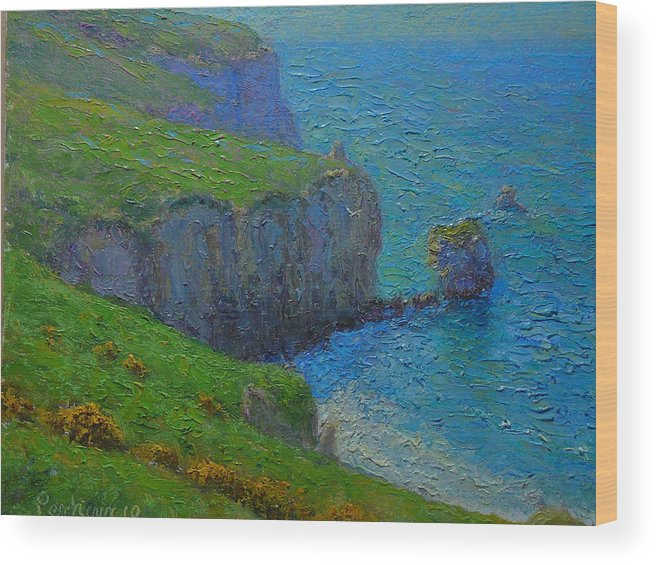 Plein Air Wood Print featuring the painting A Fallen Arch by Terry Perham
