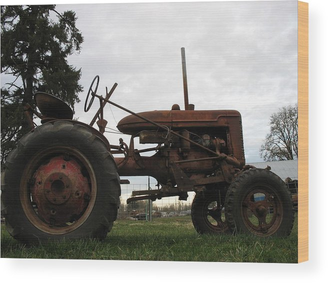 Tractor Wood Print featuring the photograph A Farmall by Juli House