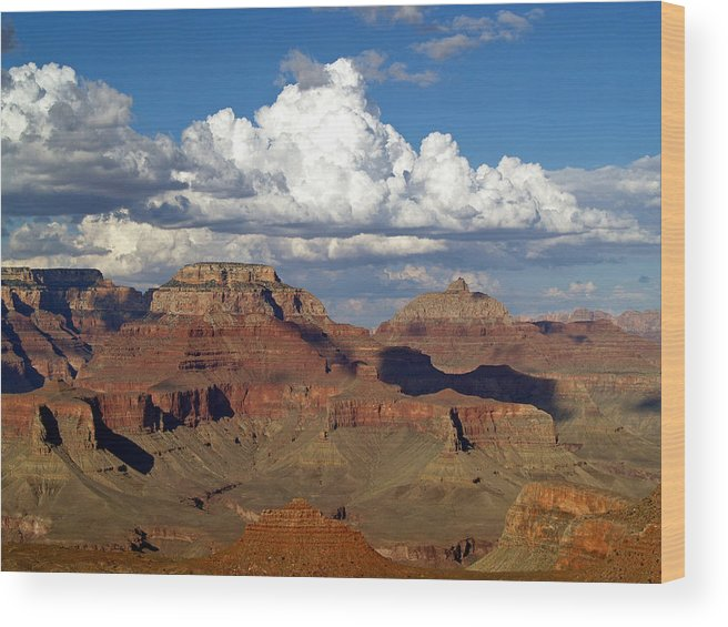 Grand Canyon National Park Wood Print featuring the photograph A Perfect Day by Carrie Putz