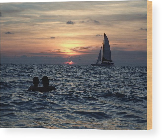 Sunset Wood Print featuring the photograph A Perfect Days End by Micah Campbell