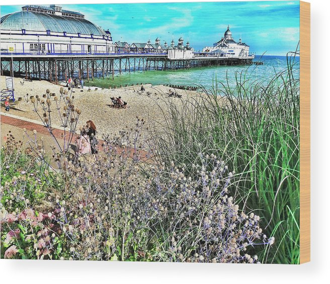 Connie Handscomb Wood Print featuring the photograph A Stroll At The Seaside by Connie Handscomb