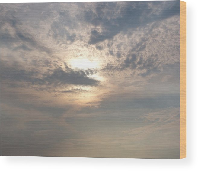 Jmw Turner Wood Print featuring the photograph A Turner Sky Over Assawoman Bay by Kevin Callahan