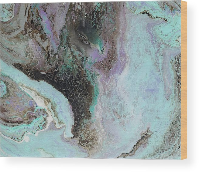 Violet Wood Print featuring the painting Abalone by Tamara Nelson