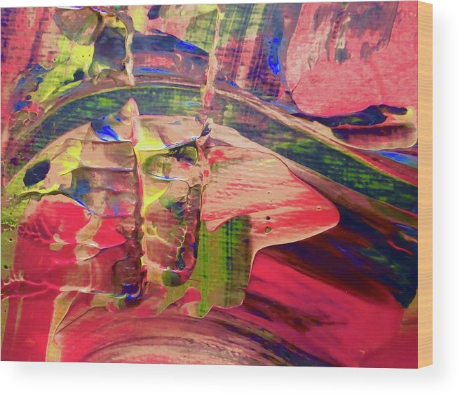Red Wood Print featuring the painting Abstract 9096 by Stephanie Moore