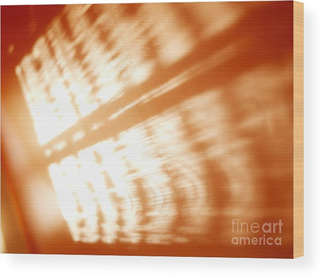 Abstract Wood Print featuring the photograph Abstract Light Rays by Tony Cordoza