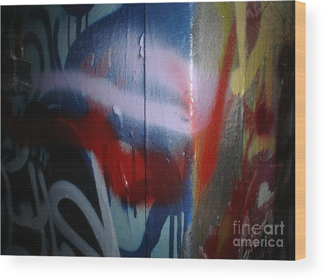 Abstract Urban Art Wood Print featuring the photograph Abstract Urban Art by Chandelle Hazen