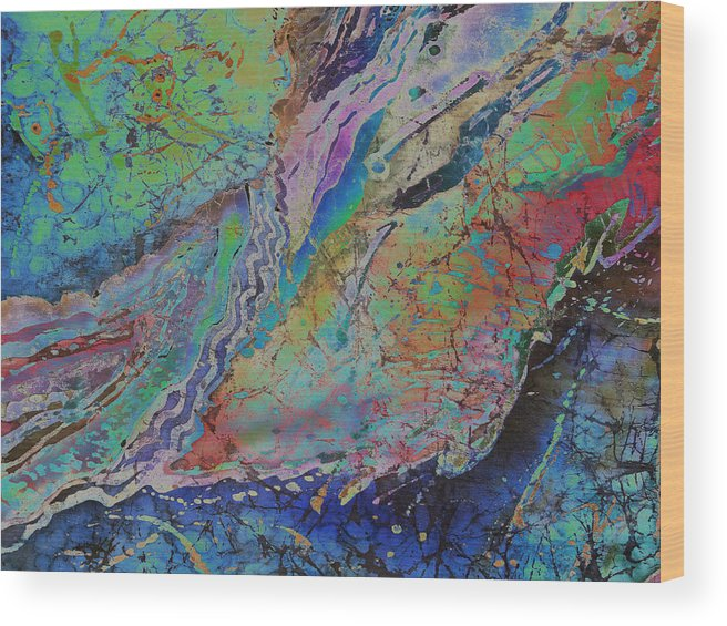 Agates Wood Print featuring the painting Agate Inspiration - 21b by Sue Duda