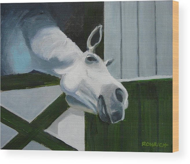 Horse Wood Print featuring the painting Ah Common A Little More by Robert Rohrich