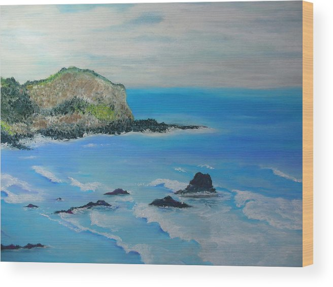 Hawaii Wood Print featuring the painting Aloha by Melinda Etzold