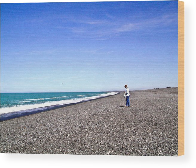 Alone Wood Print featuring the photograph Alone And At Peace by Douglas Barnett