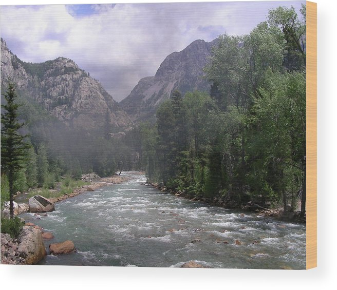 Landscape Wood Print featuring the photograph Animas River Morning by Peter McIntosh