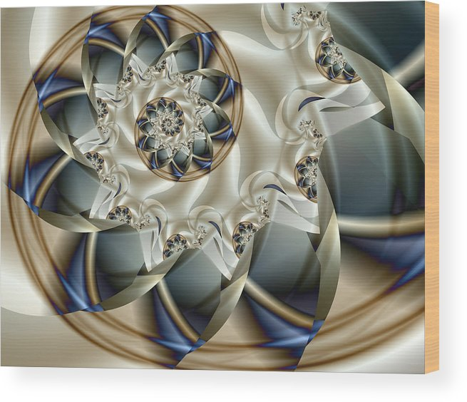 Fractal Wood Print featuring the digital art Anniversary by Vicky Brago-Mitchell